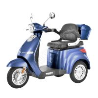 CITIS MAX - Elektroskútr modrý tříkolka