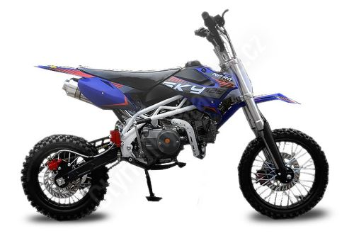Pitbike Sky 17/14, 125ccm modrá