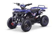 Dětská dvoutaktní čtyřkolka ATV MiniHummer Deluxe 49ccm E-start modrá