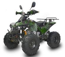 """Dětská čtyřtaktní čtyřkolka ATV Warrior125ccm zelená maskáč 1 rych. poloautomat 8"""" kola"""