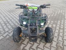 """Dětská čtyřtaktní čtyřkolka ATV Toronto RS 125ccm DELUXE maskáč zelen 1rych. poloaut 7""""kol"""