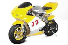 Minibike PS77, žlutá-černá