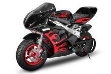 Minibike FLAME EDITION, černá-červená