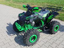 """Dětská čtyřtaktní čtyřkolka ATV Warrior MEGA Black125ccm zelená 3 rych. poloautomat 8""""kola"""