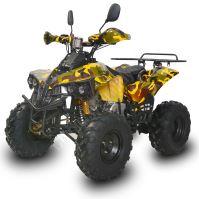 """Dětská čtyřtaktní čtyřkolka ATV Warrior125ccm žlutá maskáč 1 rych. poloautomat 8"""" kola"""