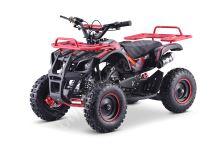 Dětská dvoutaktní čtyřkolka ATV MiniHummer Deluxe 49ccm E-start červená sestavena